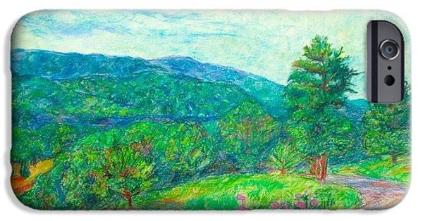 Mountain Pastels iPhone Cases - Dirt Road to the Blue Ridge iPhone Case by Kendall Kessler