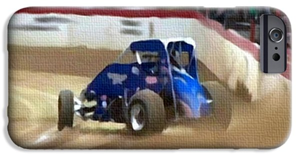 Indy Car Mixed Media iPhone Cases - Dirt Trackin iPhone Case by Dennis Buckman