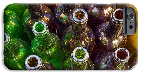 Waste iPhone Cases - Dirty Bottles iPhone Case by Carlos Caetano