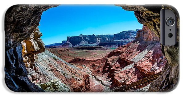 Tailings iPhone Cases - Dirty Devil Mine Entrance - San Rafael Swell - Utah iPhone Case by Gary Whitton