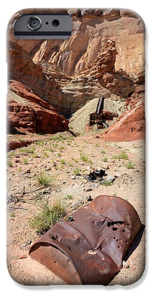 Tailings iPhone Cases - Dirty Devil Mine San Rafael Swell - Utah iPhone Case by Gary Whitton