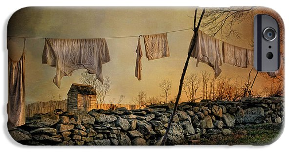 Shed iPhone Cases - Linen on the Line iPhone Case by Robin-lee Vieira