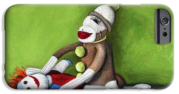 Socks iPhone Cases - Dirty Socks iPhone Case by Leah Saulnier The Painting Maniac