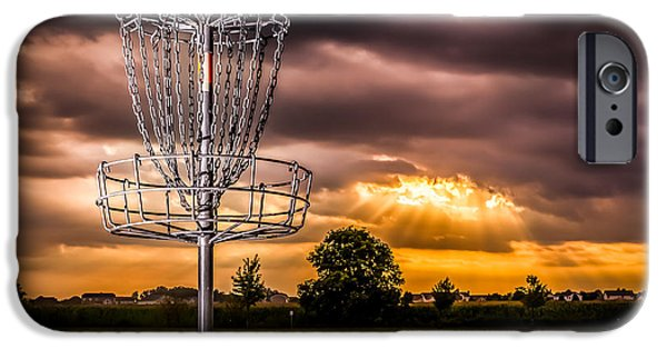 Disc iPhone Cases - Disc Golf Anyone? iPhone Case by Ron Pate