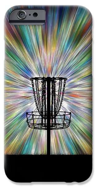 Recently Sold -  - Disc iPhone Cases - Disc Golf Basket Silhouette iPhone Case by Phil Perkins