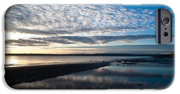 Discovery iPhone Cases - Discovery Park Evening iPhone Case by Mike Reid