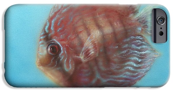 Airbrush iPhone Cases - Discus iPhone Case by Troy Wilfong