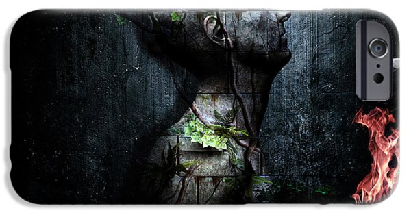 Forms Digital Art iPhone Cases - Dismantle The Dark We March On iPhone Case by Cameron Gray