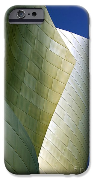 Metal Sheet iPhone Cases - Disney Concert Hall 5 iPhone Case by Micah May