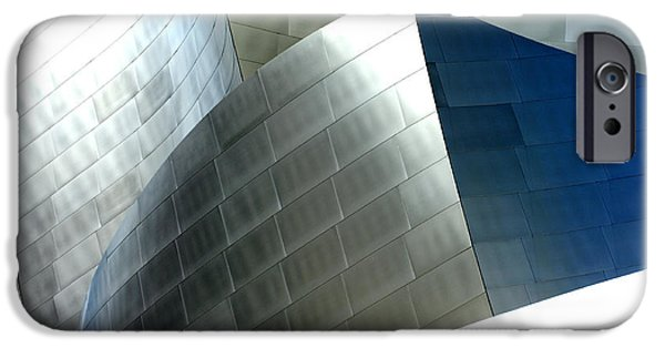 Metal Sheet iPhone Cases - Disney Concert Hall 9 iPhone Case by Micah May