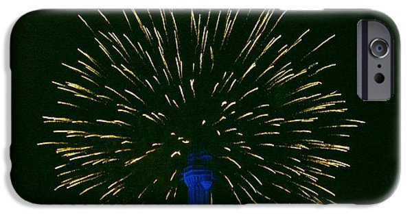 Fireworks Pyrography iPhone Cases - Disney Fireworks iPhone Case by Haley Frazier