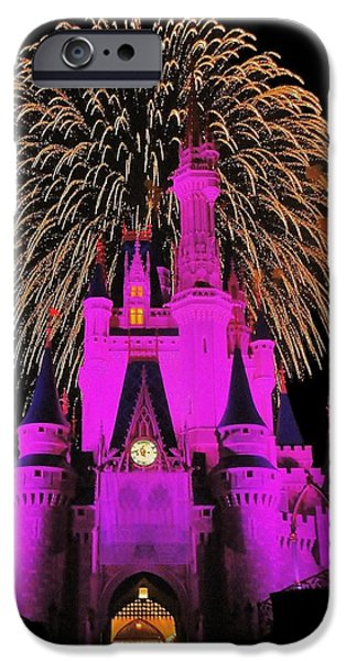 Magic Kingdom iPhone Cases - Disney Magic iPhone Case by Benjamin Yeager
