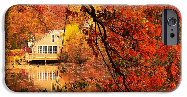 Autumn In New England iPhone Cases - Display Of Beauty iPhone Case by Lourry Legarde