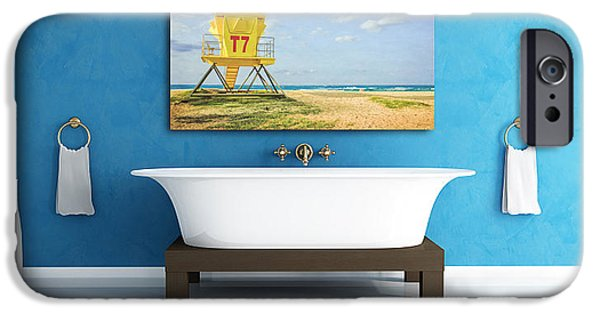 Bathroom Prints iPhone Cases - Displaying fine art photography iPhone Case by Edward Fielding
