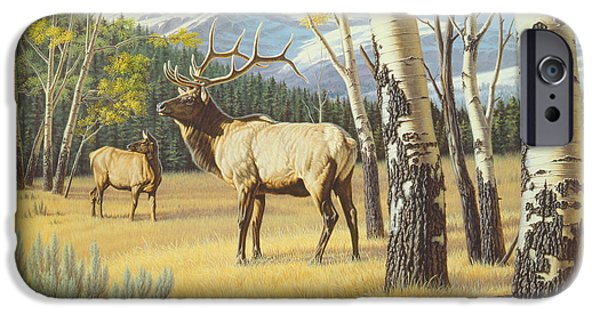 Yellowstone Park iPhone Cases - Distant Bugle iPhone Case by Paul Krapf