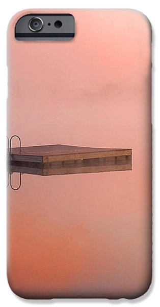 Distant Dock at Sunrise iPhone Case by Lucia Vicari