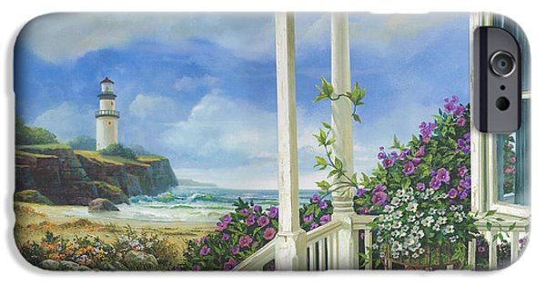Lighthouses iPhone Cases - Distant Dreams iPhone Case by Michael Humphries