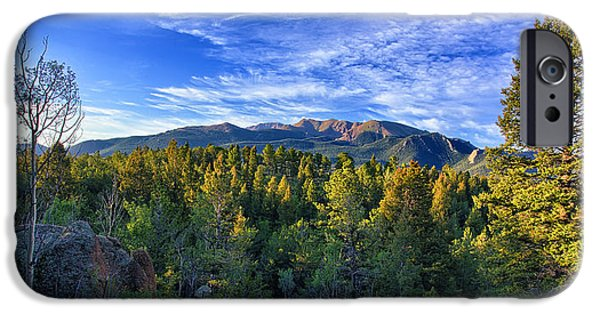 Front Range iPhone Cases - Distant Giant iPhone Case by Thomas Zimmerman