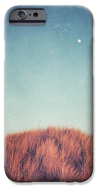 Moon Beach iPhone Cases - Distant Moon iPhone Case by Lupen  Grainne