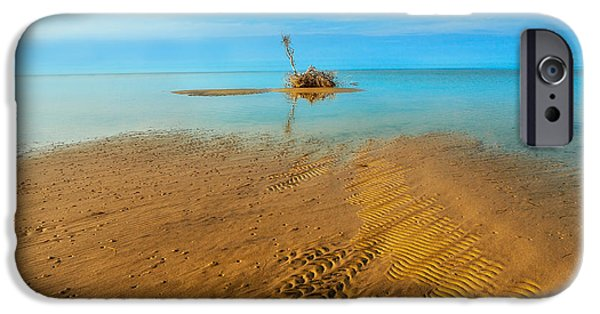 Pamlico Sound iPhone Cases - Distant Shores iPhone Case by Dan Carmichael
