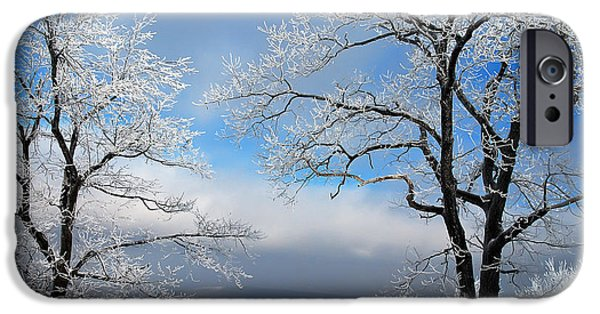 Winter Storm iPhone Cases - Distant Storms iPhone Case by Lois Bryan