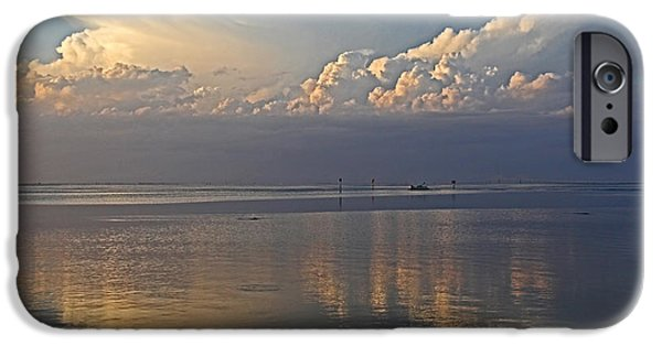 Turbulent Skies iPhone Cases - Distant Thunder iPhone Case by HH Photography of Florida