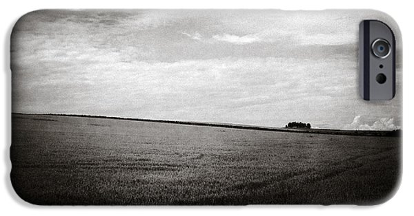 Crops iPhone Cases - Distant Trees iPhone Case by Dave Bowman