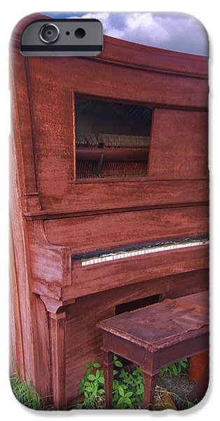 Distorted Upright Piano 2 iPhone Case by Mike McGlothlen