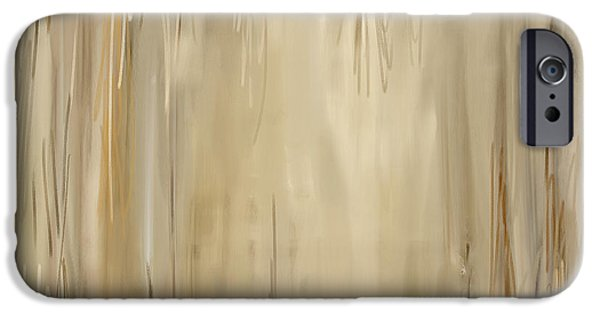 Beige Abstract iPhone Cases - Distressed Appeal iPhone Case by Lourry Legarde