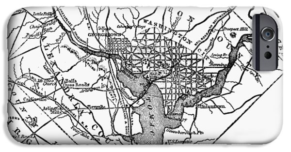 D.c. iPhone Cases - District Of Columbia, 1801 iPhone Case by Granger