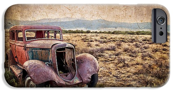 Old Cars iPhone Cases - Disused iPhone Case by Delphimages Photo Creations