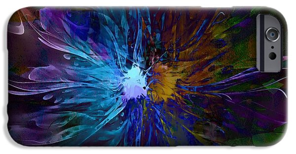 Floral Digital Art Digital Art Digital Art iPhone Cases - Diversity iPhone Case by Amanda Moore