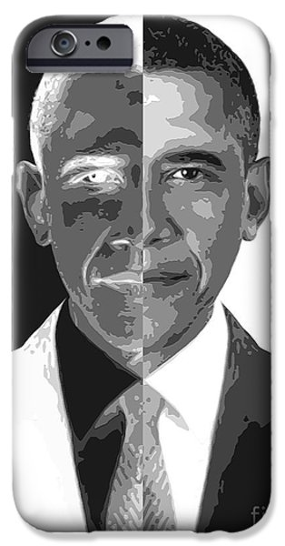 President Obama iPhone Cases - Divider In Chief iPhone Case by Cristophers Dream Artistry