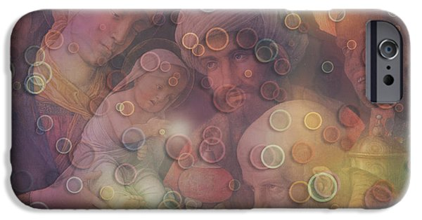 Jesus Artwork iPhone Cases - Divine Event digital artwork iPhone Case by Georgeta Blanaru