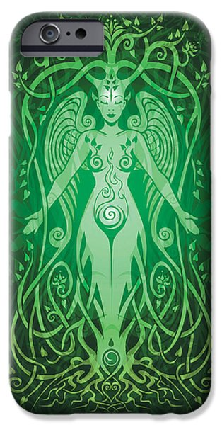 Gaia Digital iPhone Cases - Divine Life v.2 iPhone Case by Cristina McAllister