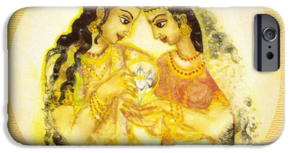 Hindu Goddess iPhone Cases - Divine Love - Detail iPhone Case by Ananda Vdovic