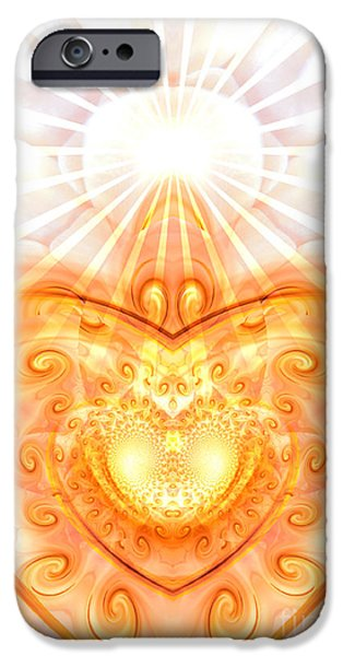 Healing Posters iPhone Cases - Divine Love iPhone Case by Indira Emmerlich