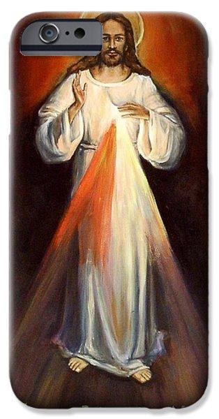 Divine Mercy iPhone Cases - Divine Mercy II iPhone Case by Sheila Diemert
