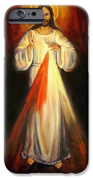 Divine Mercy iPhone Cases - Divine Mercy iPhone Case by Sheila Diemert
