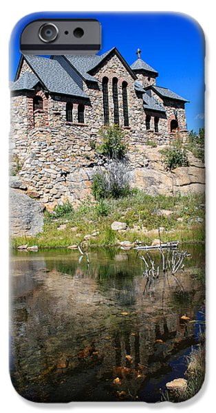 Chapel On The Rock iPhone Cases - Divine Reflection iPhone Case by Paul Moore
