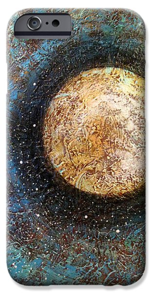 Moon iPhone Cases - Divine Solitude iPhone Case by Sharon Cummings