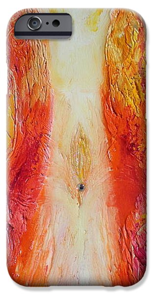 Liberation Paintings iPhone Cases - Divine Source - Juicy Goddess iPhone Case by Alexandra Florschutz