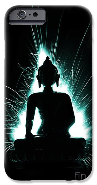 Buddhism iPhone Cases - Divine Spark iPhone Case by Tim Gainey