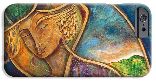 Religious iPhone Cases - Divine Wisdom iPhone Case by Shiloh Sophia McCloud