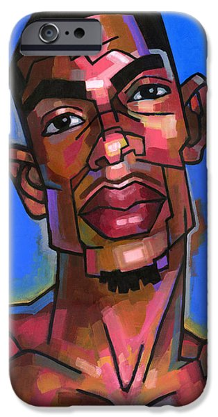 African American Paintings iPhone Cases - Dj iPhone Case by Douglas Simonson
