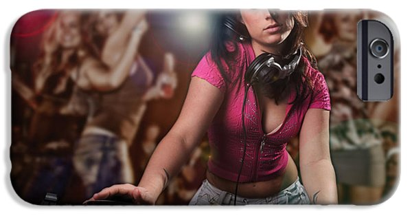 Disc iPhone Cases - DJ Girl iPhone Case by Jt PhotoDesign