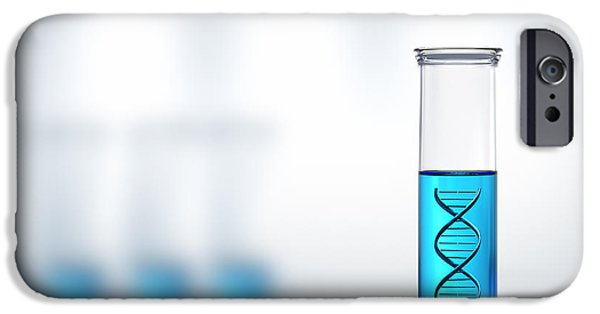 Biology iPhone Cases - DNA research or testing in a laboratory iPhone Case by Johan Swanepoel