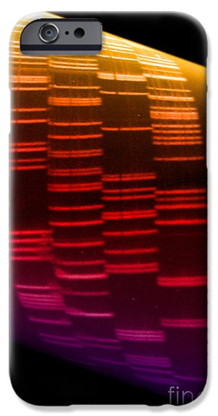 Dna Art iPhone Cases - Dna Sequence iPhone Case by Scott Camazine