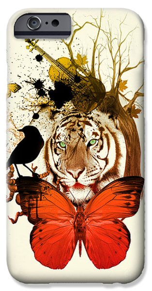 The Tiger iPhone Cases - Do Not Be Sad  iPhone Case by Mark Ashkenazi