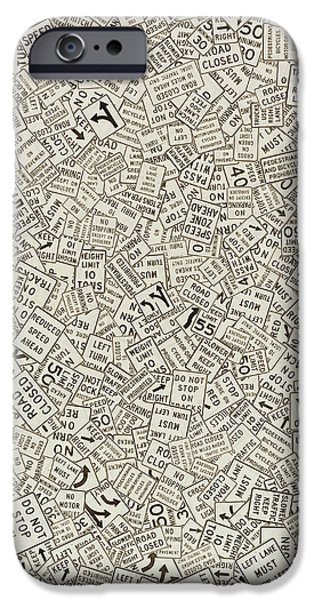 Mosaic Mixed Media iPhone Cases - Do Not Stop on Tracks iPhone Case by Ellen Golla